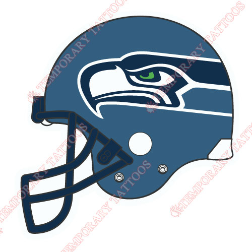 Seattle Seahawks Customize Temporary Tattoos Stickers NO.760