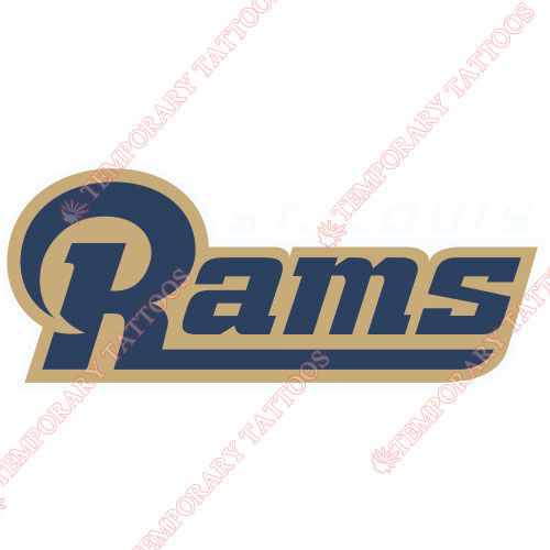 St. Louis Rams Customize Temporary Tattoos Stickers NO.761