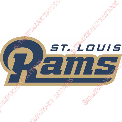 St. Louis Rams Customize Temporary Tattoos Stickers NO.762