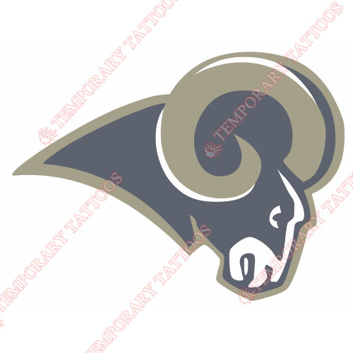 St. Louis Rams Customize Temporary Tattoos Stickers NO.764
