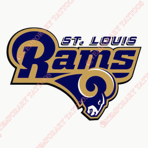 St. Louis Rams Customize Temporary Tattoos Stickers NO.767