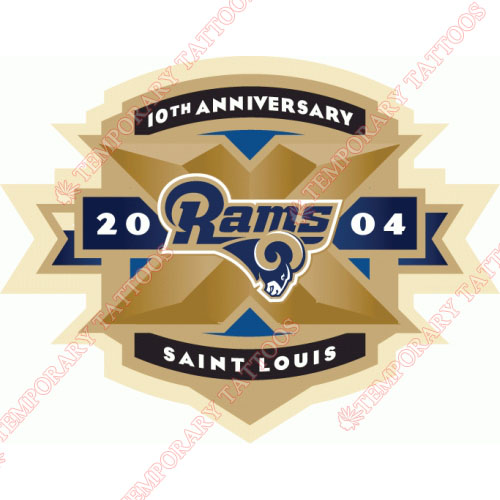 St. Louis Rams Customize Temporary Tattoos Stickers NO.768