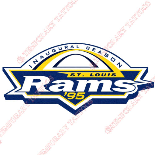 St. Louis Rams Customize Temporary Tattoos Stickers NO.769