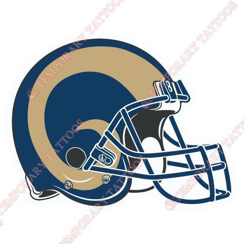 St. Louis Rams Customize Temporary Tattoos Stickers NO.770