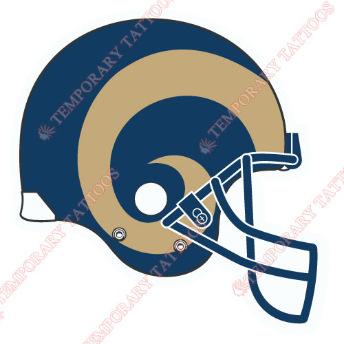 St. Louis Rams Customize Temporary Tattoos Stickers NO.772