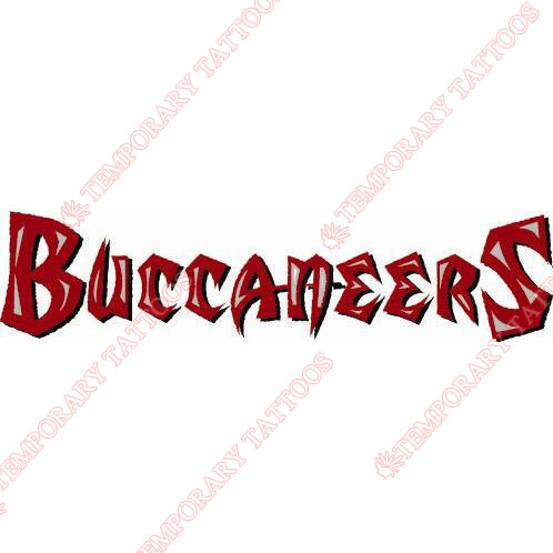 Tampa Bay Buccaneers Customize Temporary Tattoos Stickers NO.823
