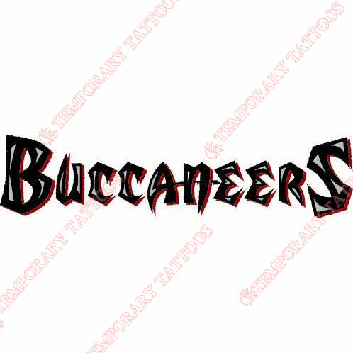Tampa Bay Buccaneers Customize Temporary Tattoos Stickers NO.824