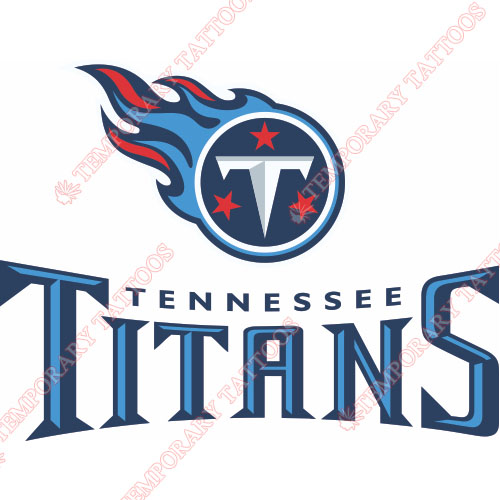 Tennessee Titans Customize Temporary Tattoos Stickers NO.835