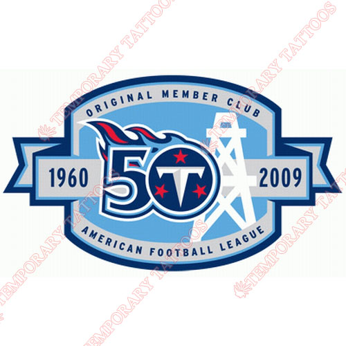 Tennessee Titans Customize Temporary Tattoos Stickers NO.837