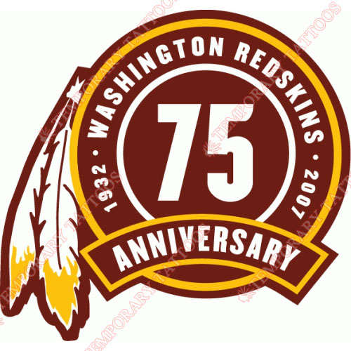 Washington Redskins Customize Temporary Tattoos Stickers NO.851