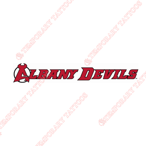 Albany Devils Customize Temporary Tattoos Stickers NO.8966