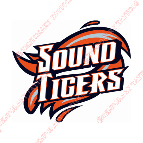 Bridgeport Sound Tigers Customize Temporary Tattoos Stickers NO.8981