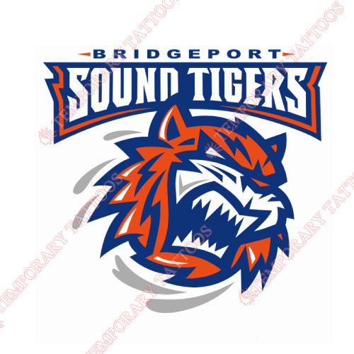 Bridgeport Sound Tigers Customize Temporary Tattoos Stickers NO.8983