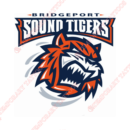 Bridgeport Sound Tigers Customize Temporary Tattoos Stickers NO.8985