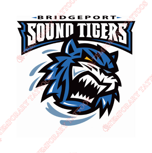 Bridgeport Sound Tigers Customize Temporary Tattoos Stickers NO.8986