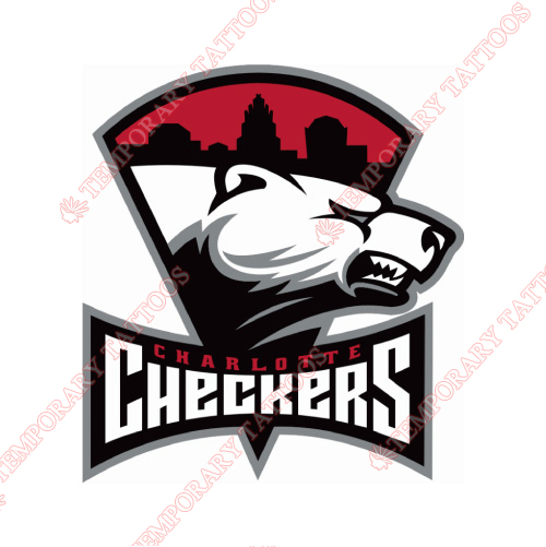 Charlotte Checkers Customize Temporary Tattoos Stickers NO.8987