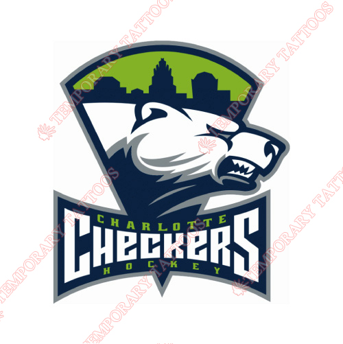 Charlotte Checkers Customize Temporary Tattoos Stickers NO.8988