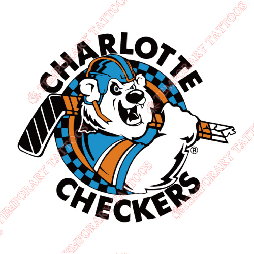 Charlotte Checkers Customize Temporary Tattoos Stickers NO.8991