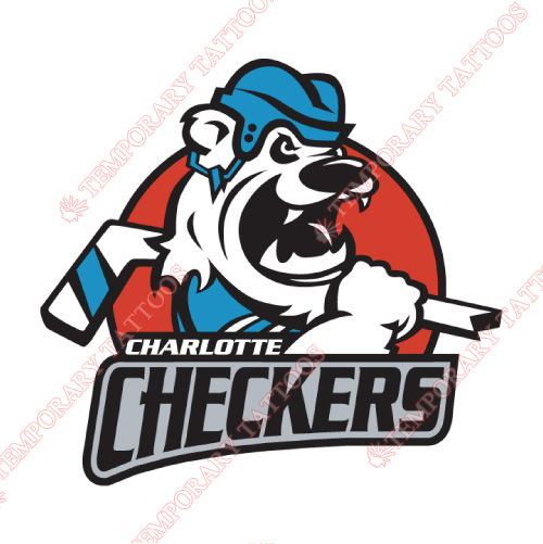 Charlotte Checkers Customize Temporary Tattoos Stickers NO.8994