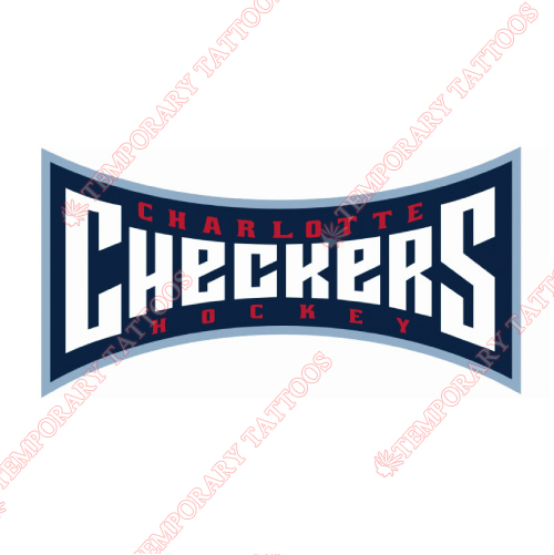 Charlotte Checkers Customize Temporary Tattoos Stickers NO.8995
