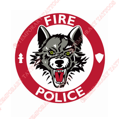 Chicago Wolves Customize Temporary Tattoos Stickers NO.8999