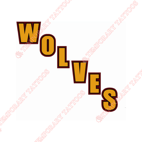 Chicago Wolves Customize Temporary Tattoos Stickers NO.9001