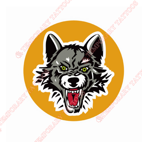 Chicago Wolves Customize Temporary Tattoos Stickers NO.9003