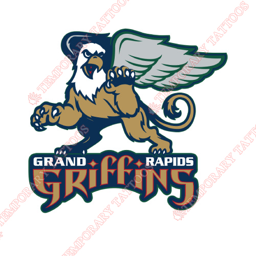 Grand Rapids Griffins Customize Temporary Tattoos Stickers NO.9004