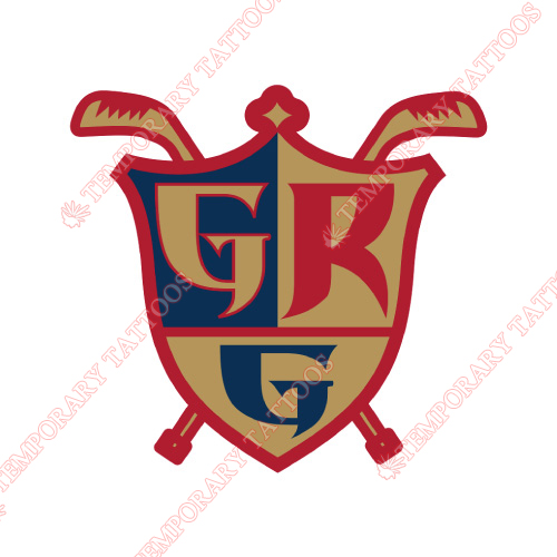 Grand Rapids Griffins Customize Temporary Tattoos Stickers NO.9005