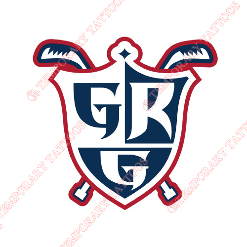 Grand Rapids Griffins Customize Temporary Tattoos Stickers NO.9006