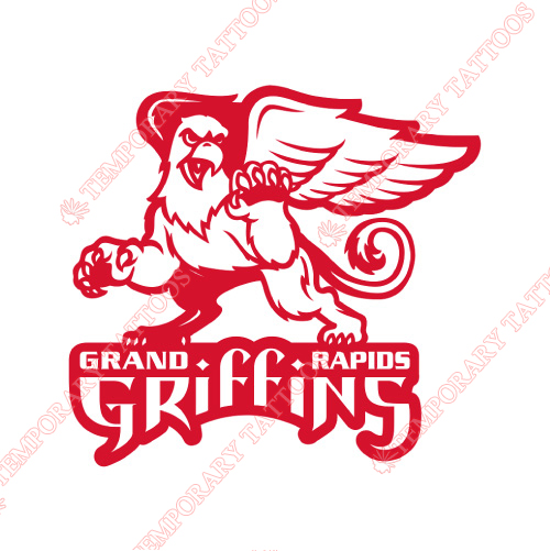 Grand Rapids Griffins Customize Temporary Tattoos Stickers NO.9007