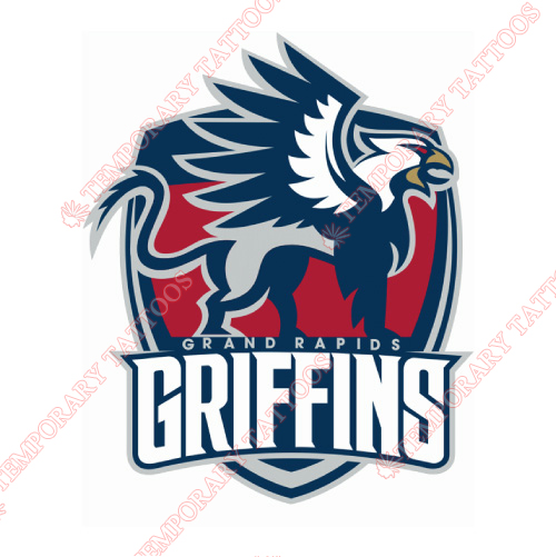 Grand Rapids Griffins Customize Temporary Tattoos Stickers NO.9008