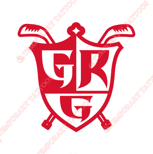 Grand Rapids Griffins Customize Temporary Tattoos Stickers NO.9010