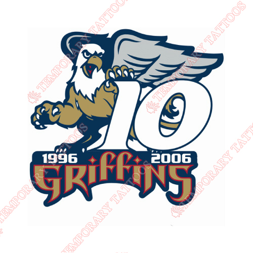 Grand Rapids Griffins Customize Temporary Tattoos Stickers NO.9011