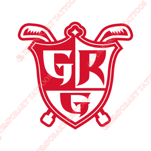Grand Rapids Griffins Customize Temporary Tattoos Stickers NO.9012