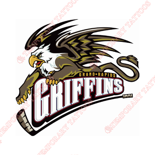 Grand Rapids Griffins Customize Temporary Tattoos Stickers NO.9013