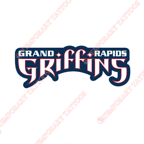 Grand Rapids Griffins Customize Temporary Tattoos Stickers NO.9016