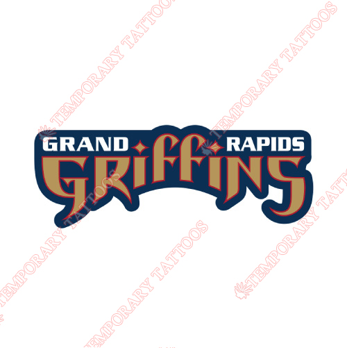 Grand Rapids Griffins Customize Temporary Tattoos Stickers NO.9018