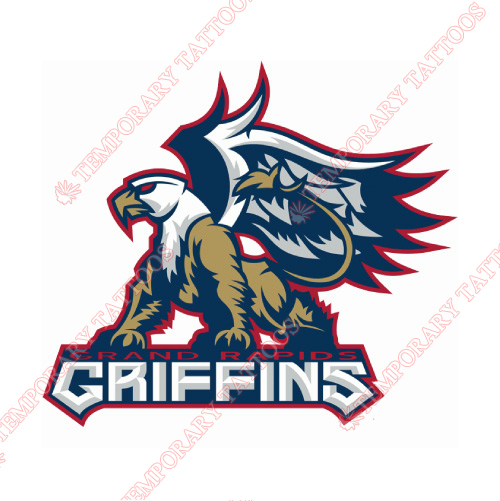 Grand Rapids Griffins Customize Temporary Tattoos Stickers NO.9019