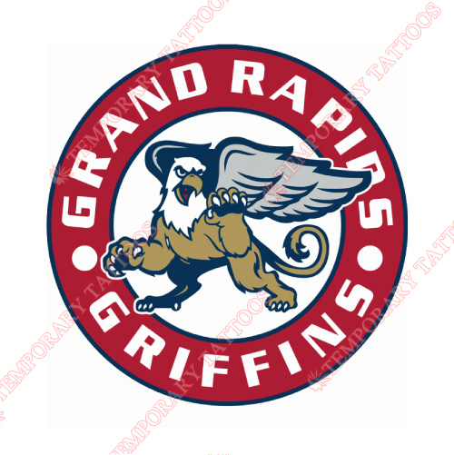 Grand Rapids Griffins Customize Temporary Tattoos Stickers NO.9020