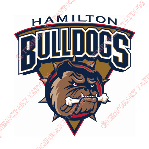 Hamilton Bulldogs Customize Temporary Tattoos Stickers NO.9024