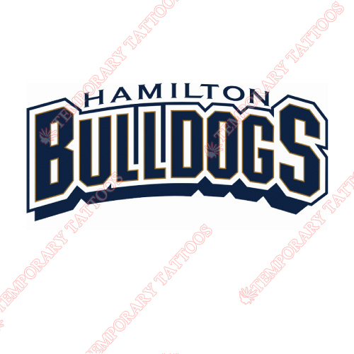 Hamilton Bulldogs Customize Temporary Tattoos Stickers NO.9025