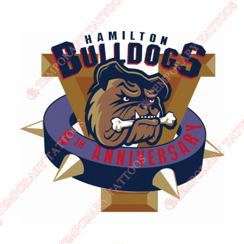 Hamilton Bulldogs Customize Temporary Tattoos Stickers NO.9026