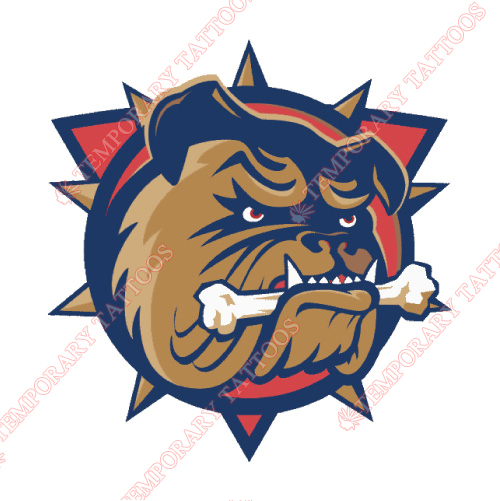 Hamilton Bulldogs Customize Temporary Tattoos Stickers NO.9027