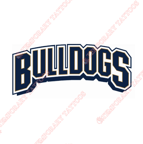 Hamilton Bulldogs Customize Temporary Tattoos Stickers NO.9028