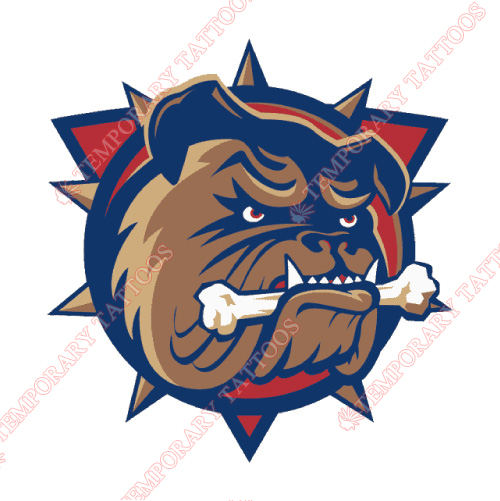 Hamilton Bulldogs Customize Temporary Tattoos Stickers NO.9031