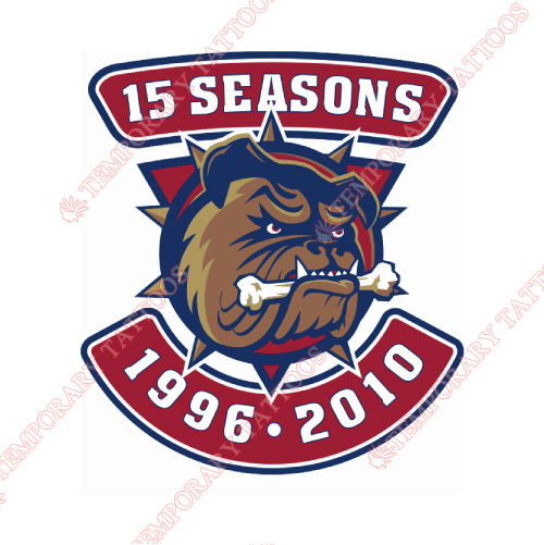 Hamilton Bulldogs Customize Temporary Tattoos Stickers NO.9032