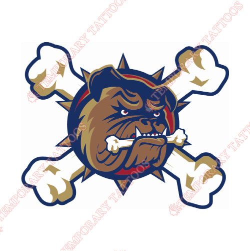 Hamilton Bulldogs Customize Temporary Tattoos Stickers NO.9033