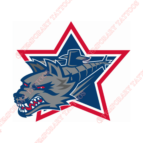 Hartford Wolf Pack Customize Temporary Tattoos Stickers NO.9034