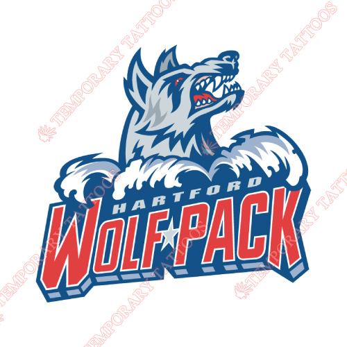 Hartford Wolf Pack Customize Temporary Tattoos Stickers NO.9035